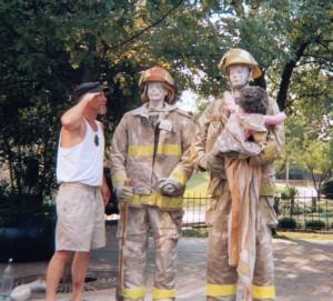 Salute to American Heros 911-Fireman sculptures